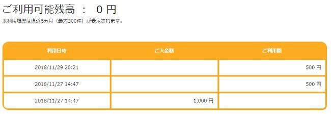 KFCカード残高照会3