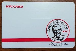 KFCカードイメージ