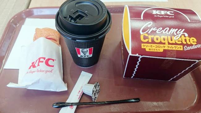 ケンタッキー「クリーミーコロッケフィレサンド」「いちごパイとコーヒー」