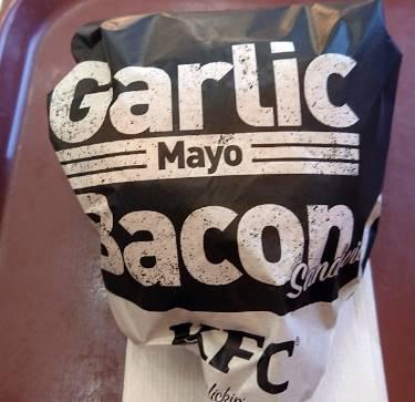 KFCガリマヨベーコンサンド外袋
